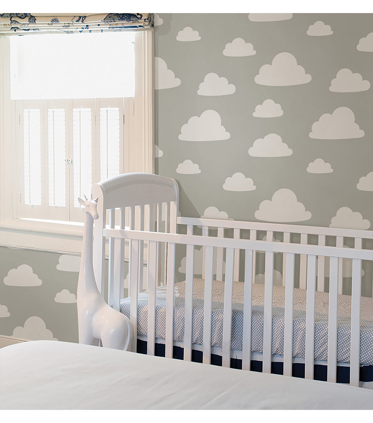WallPops NuWallpaper Grey Clouds Peel  & Stick Wallpaper