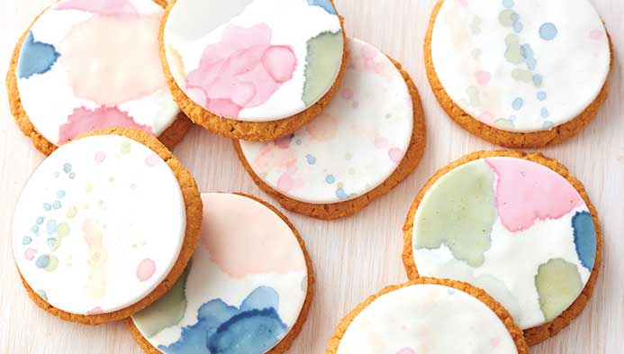 Watercolor Cookie Painting