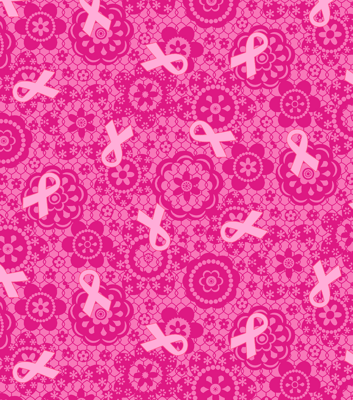 Snuggle Flannel Fabric -Bc Pink Ribbon Lace