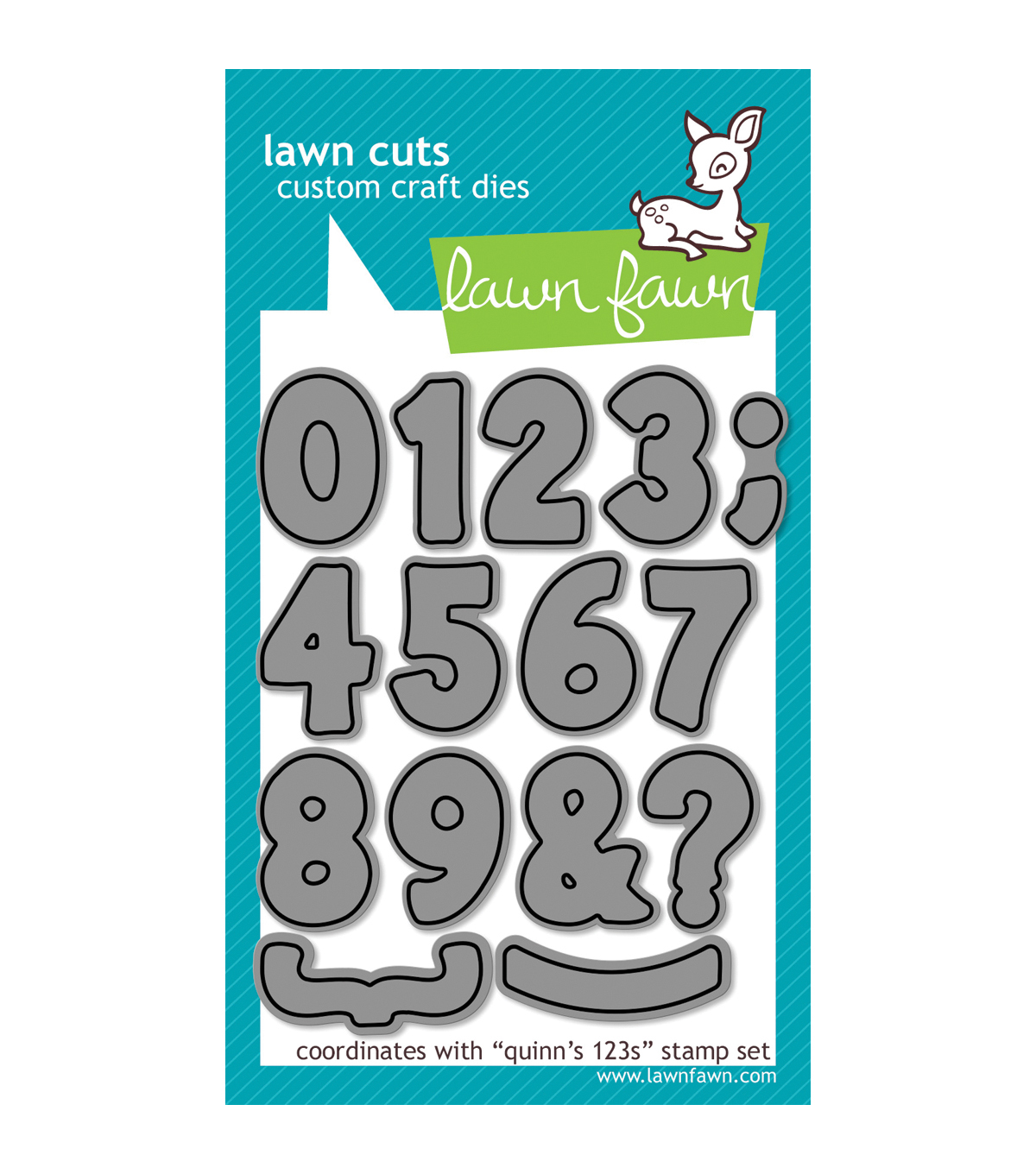 Lawn Fawn Lawn Cuts Custom Craft Die -Quinn\u0027s 123s