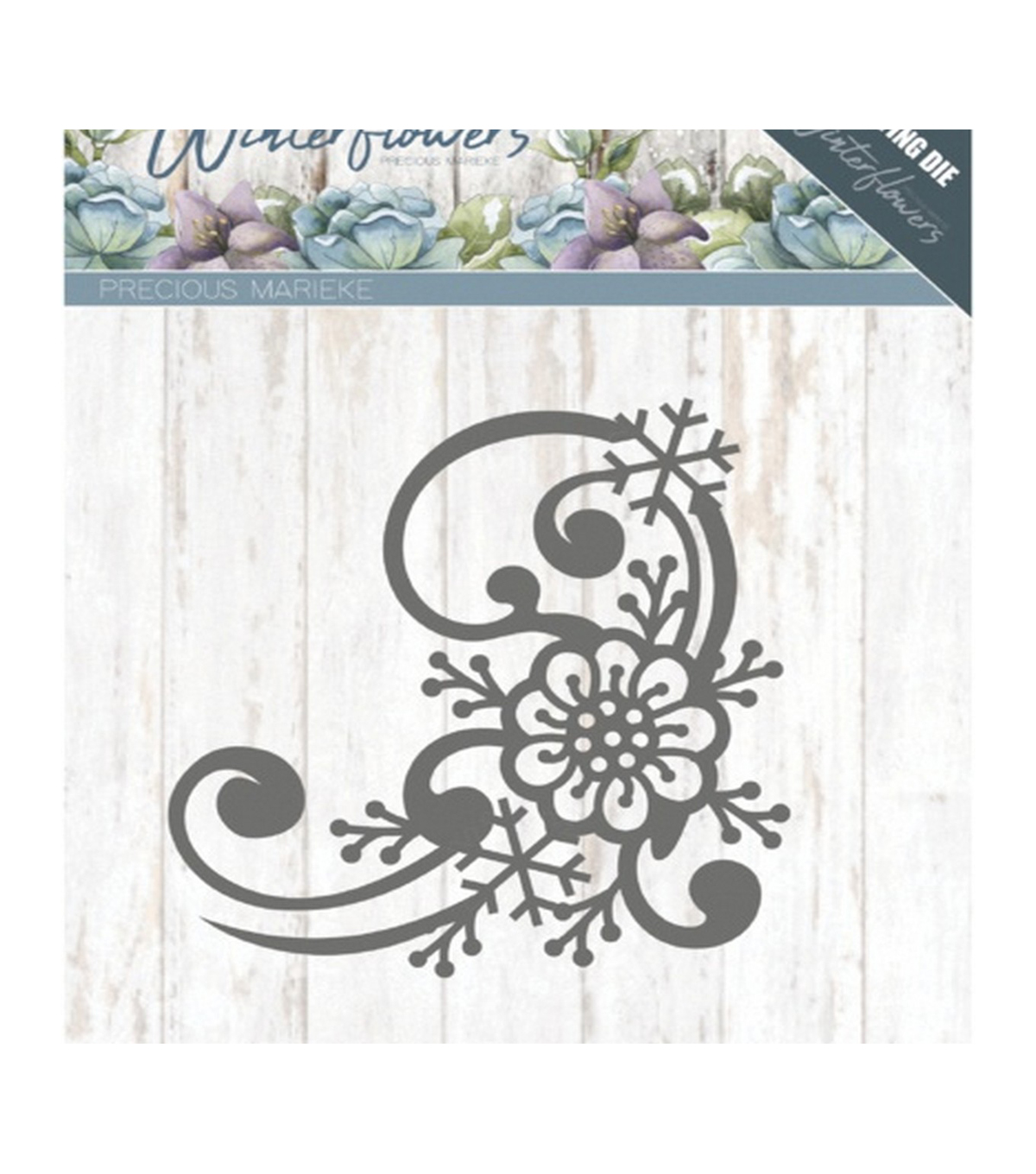 Find It Trading Precious Marieke Winter Flowers Die-Snowflake Corner