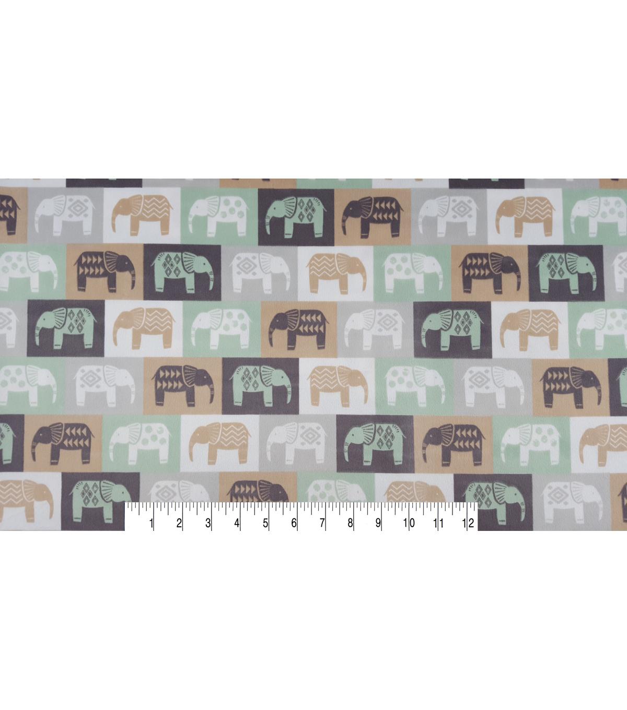 Nursery Flannel Fabric 43 U0022 Elephant Confetti Gray