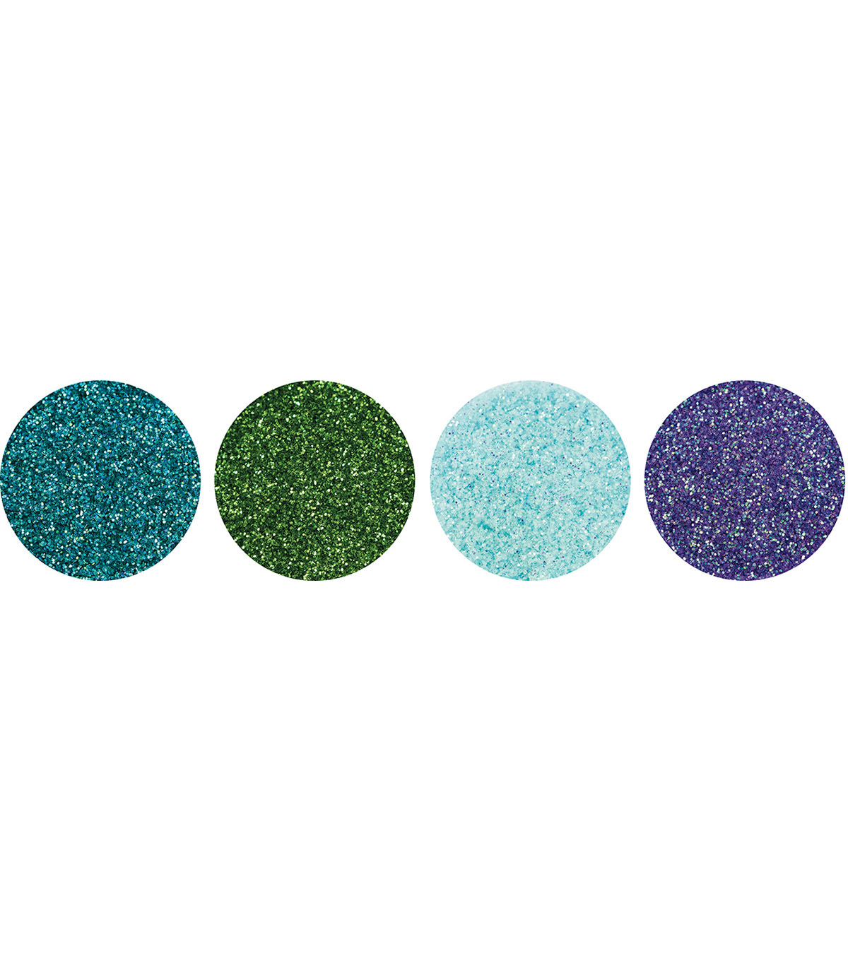 Nuvo Pure Sheen 4 pk Glitter-Peacock Feathers