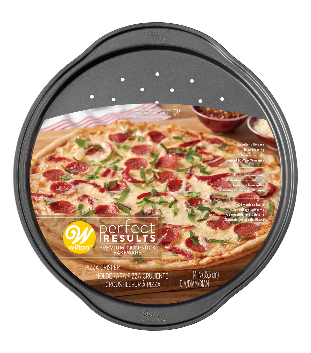 Wilton Perfect Results 14.25\u0022X.625\u0022 Pizza Crisper
