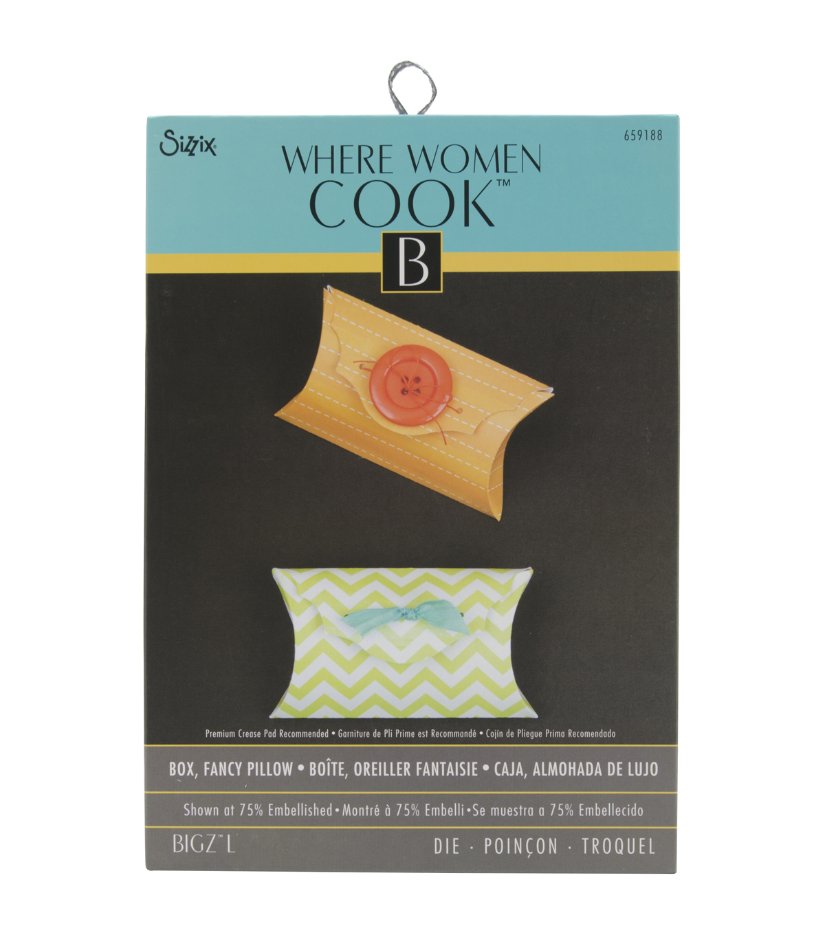 Sizzix Bigz Where Women Cook L Die-Fancy Pillow Box