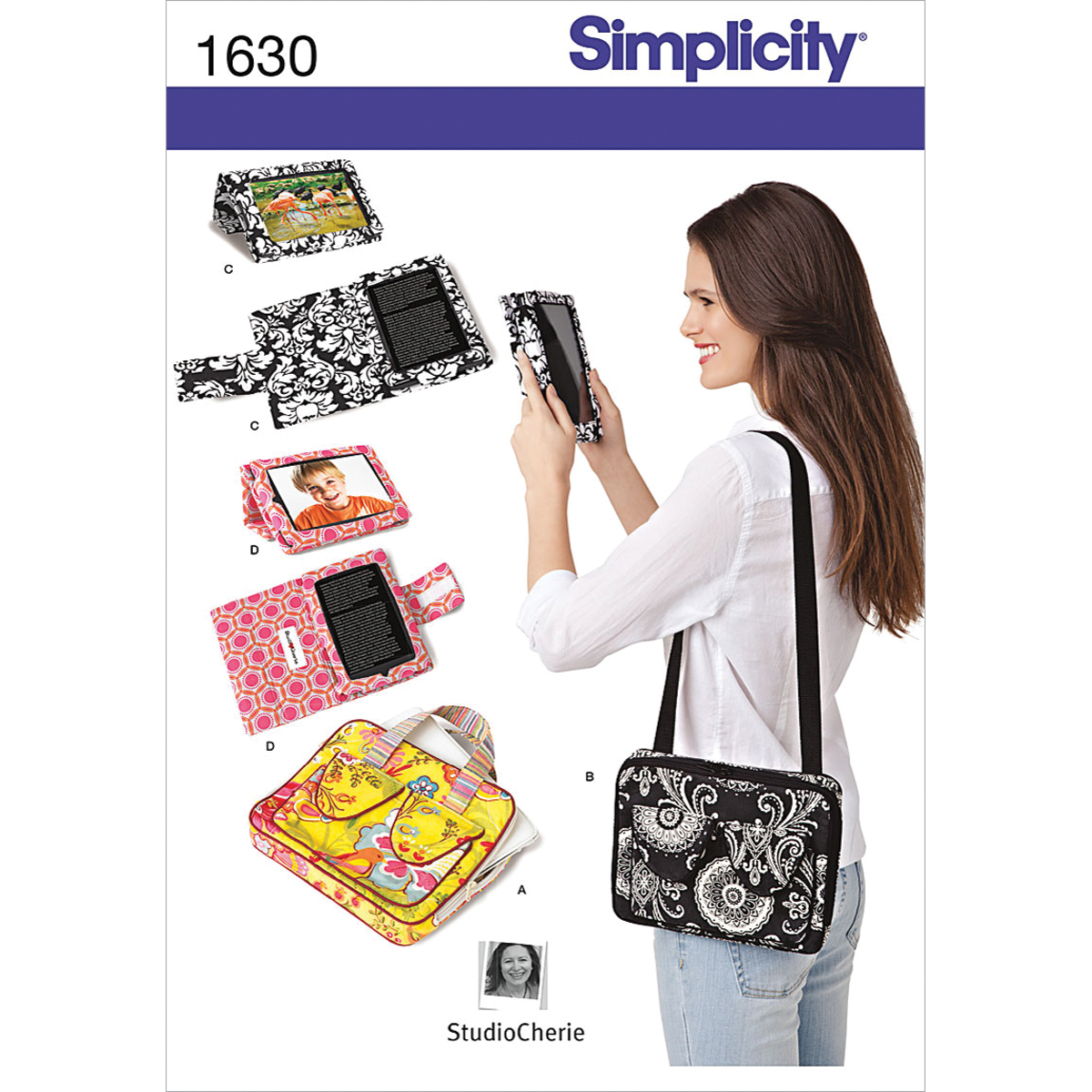 Simplicity Pattern 1630OS E-Book Covers & Tablet Carry Case