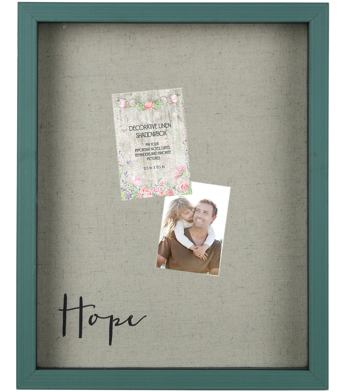 Decorative Linen Shadowbox 11\u0027\u0027x14\u0027\u0027-Hope
