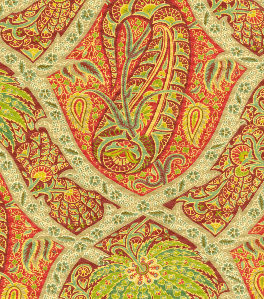 Home Decor Print Fabric- Tommy Bahama Polynesian Paisley/Bonfire | JOANN