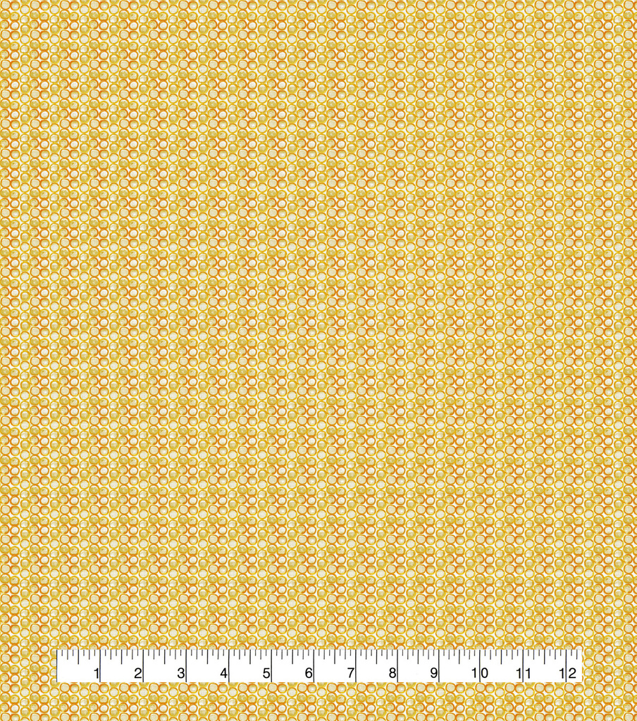 Keepsake Calico Cotton Fabric-Outline Dots Yellow