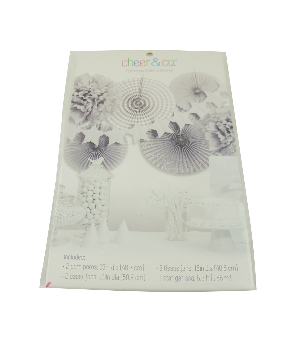 Cheer & Co 7pc Party Decoration Kit-Pearlized Gray