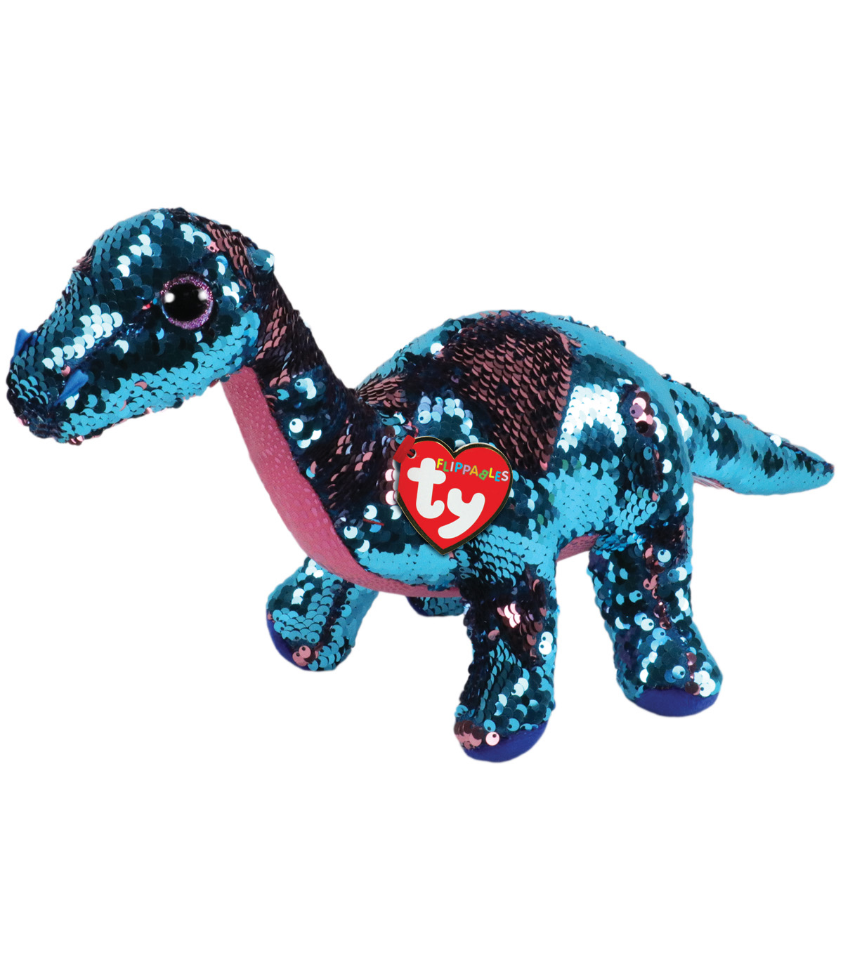 Ty Inc. Flippables Medium Sequin Tremor Dinosaur