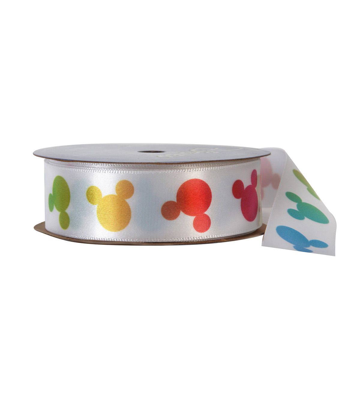 Offray 7/8\u0022x9\u0027 Mickey Character Single Faced Satin Ribbon-Rainbow