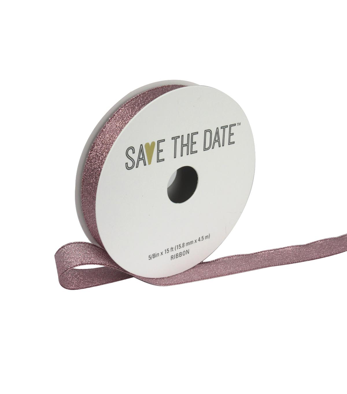 Save the Date 5/8\u0022 x 15ft Ribbon-Rose Gold Metallic