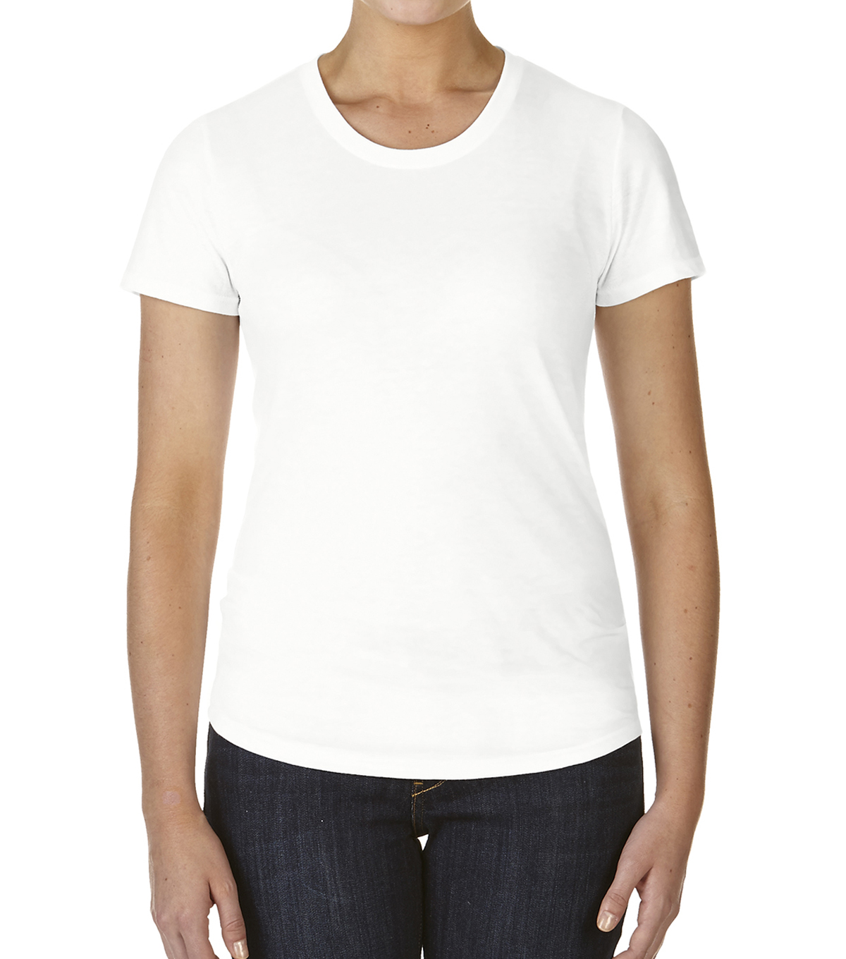 Ladies Anvil Triblend Tee-Small, White