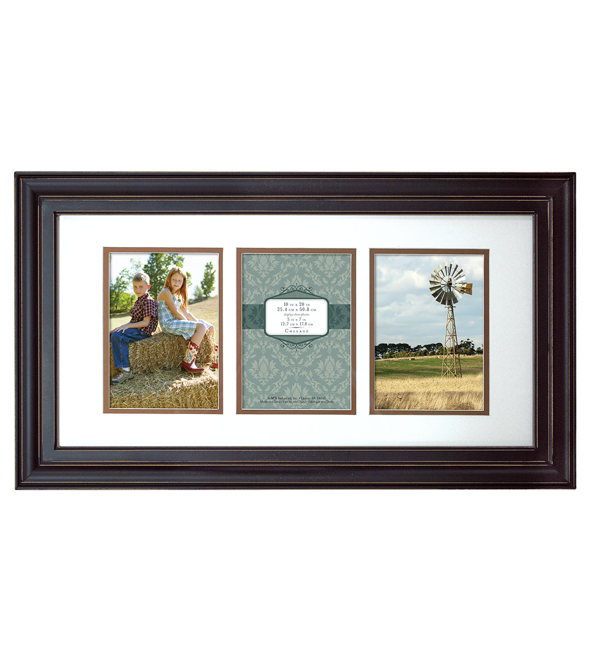 3 picture frames on wall poster wood wall frame 10x20 5x7 photodistressed black op distressed joann
