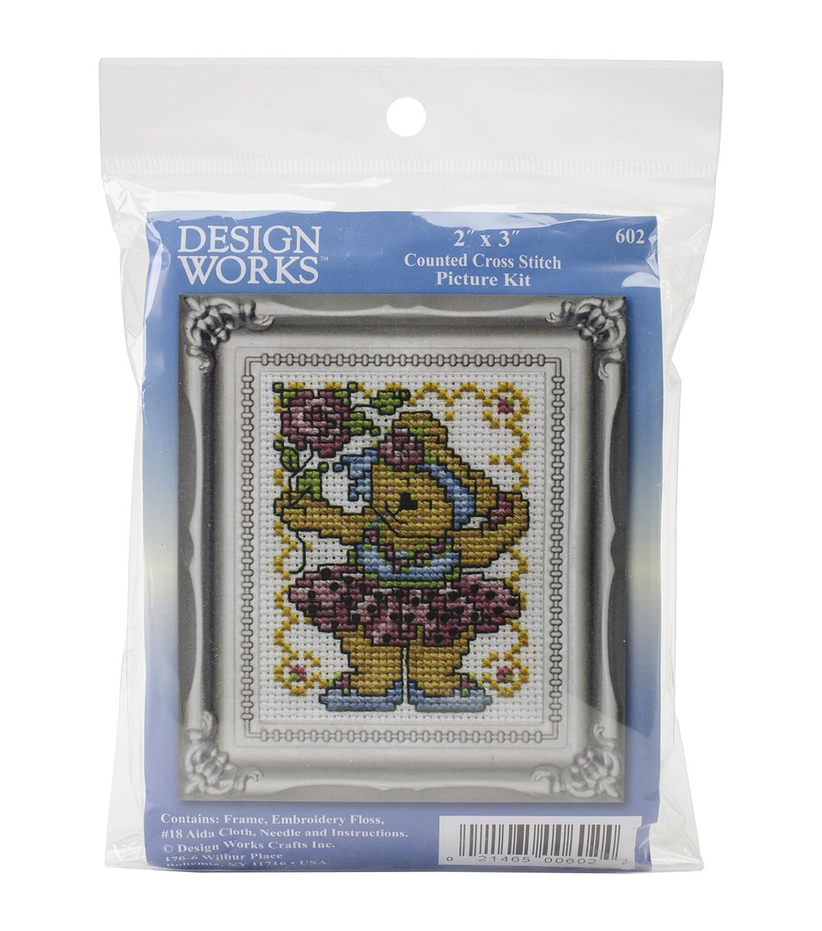 Design Works Ballerina Bear Counted Cross Stitch Kit
