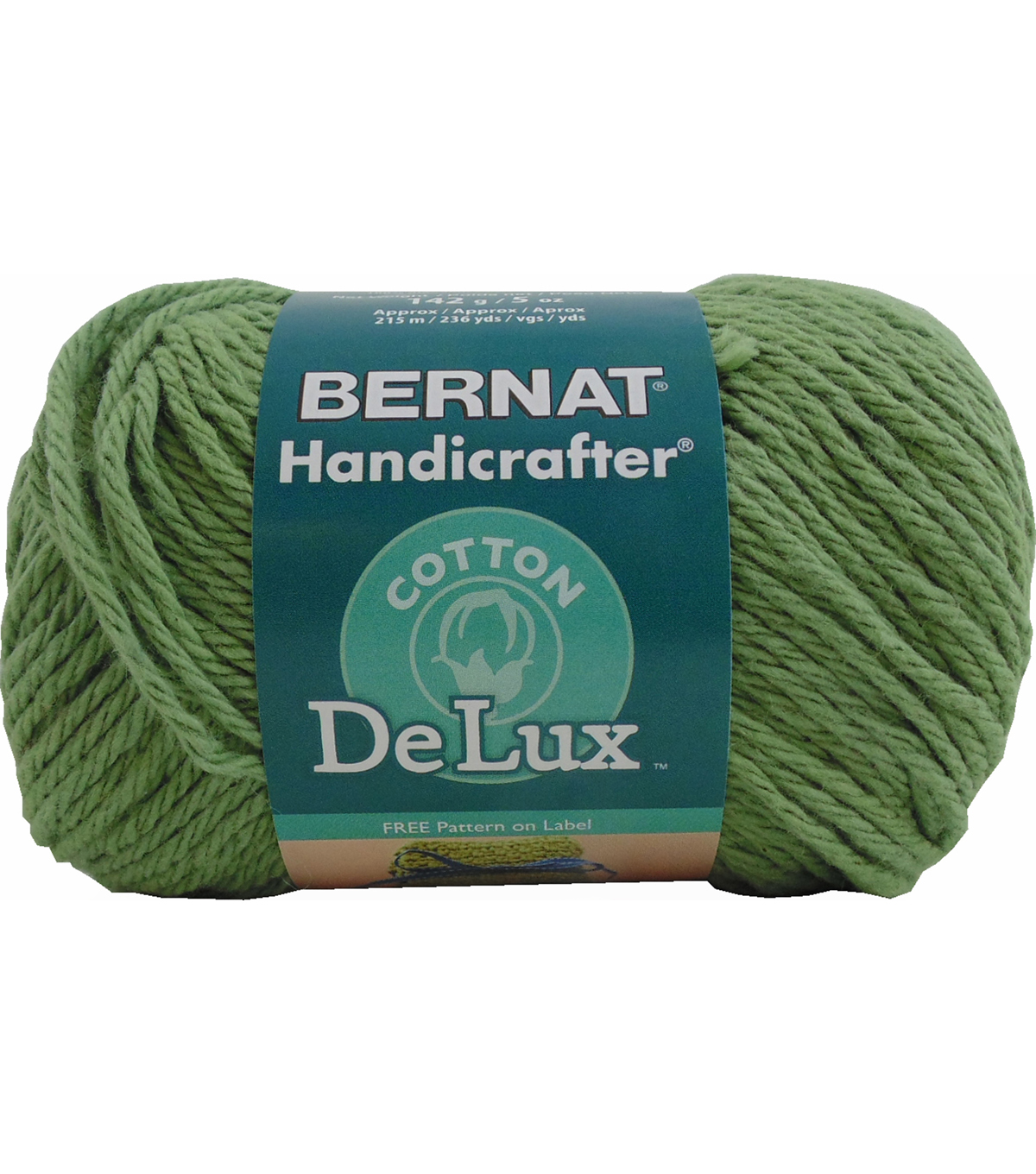 Bernat Handicrafter DeLux Cotton Yarn, Olive