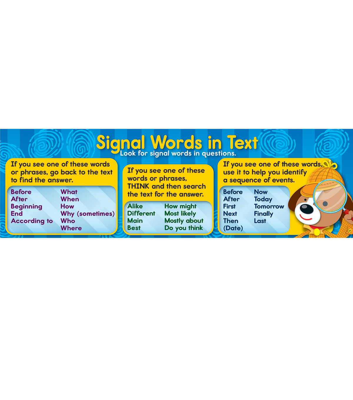 Signal Words Bookmarks 30ct