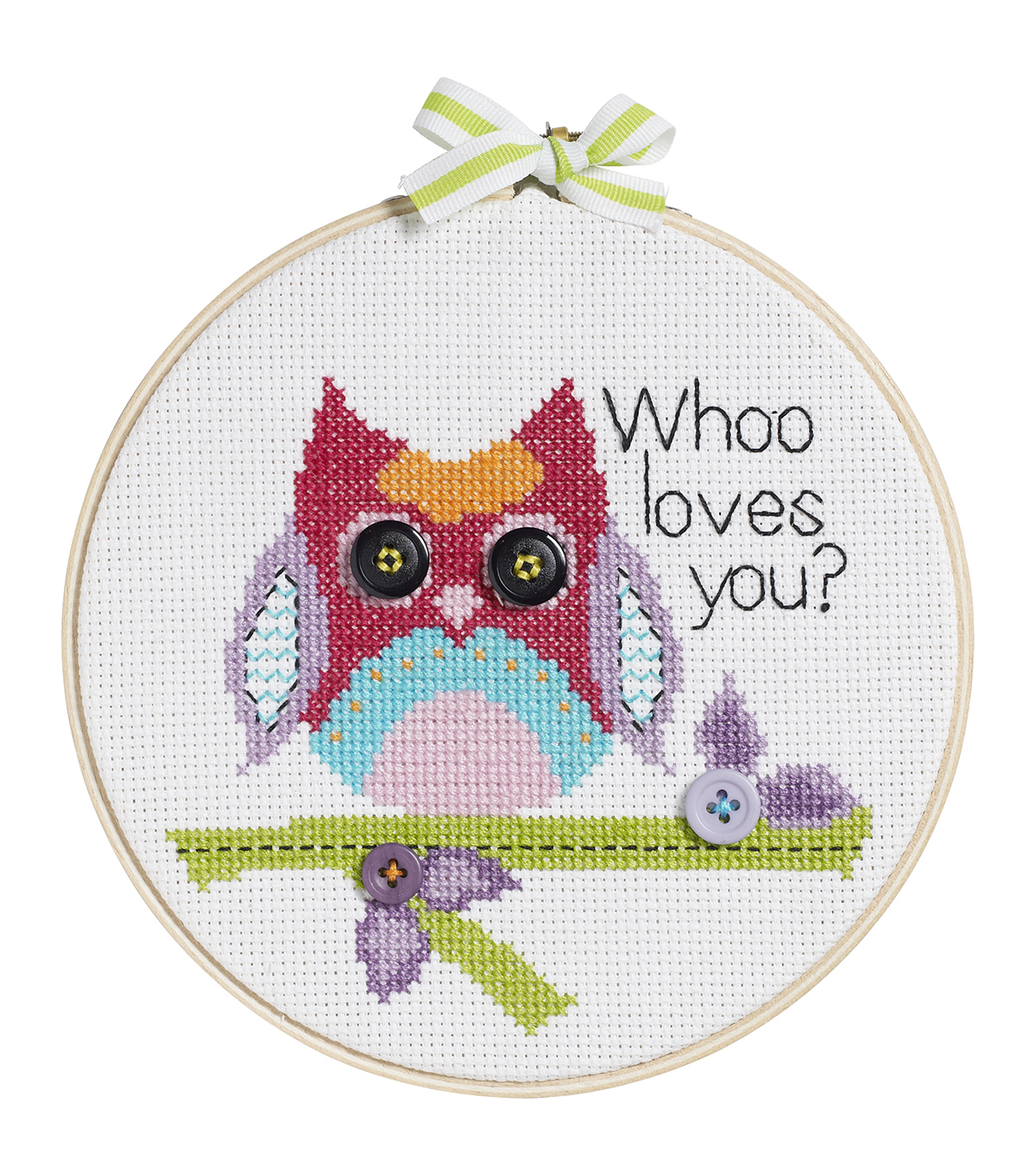 Bucilla My 1st Stitch Whoo Loves You Mini Counted Cross Stitch Kit