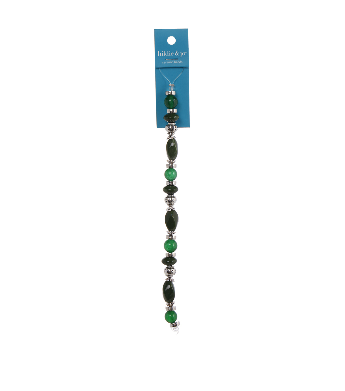 hildie & jo 7\u0027\u0027 Emeraude Strung Beads-Dark Green