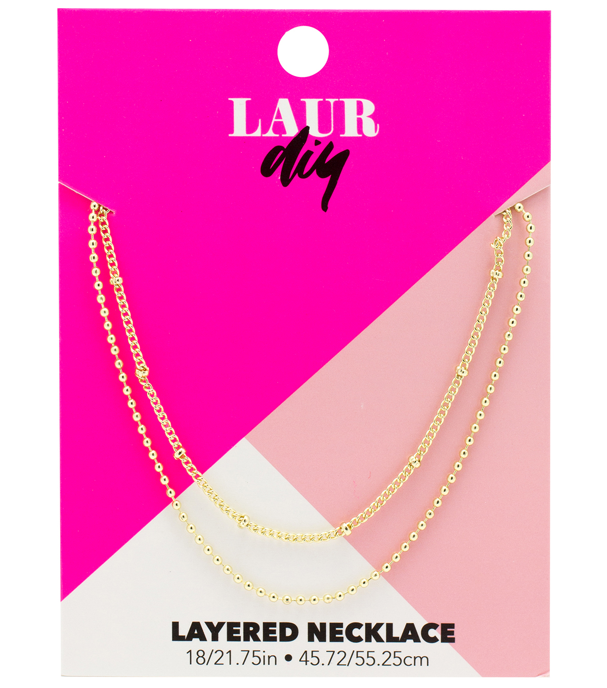 LaurDIY Layered Necklace-Gold Finish