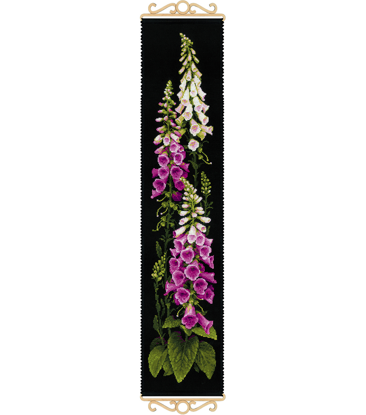 Foxgloves Counted Cross Stitch Kit 14 Count