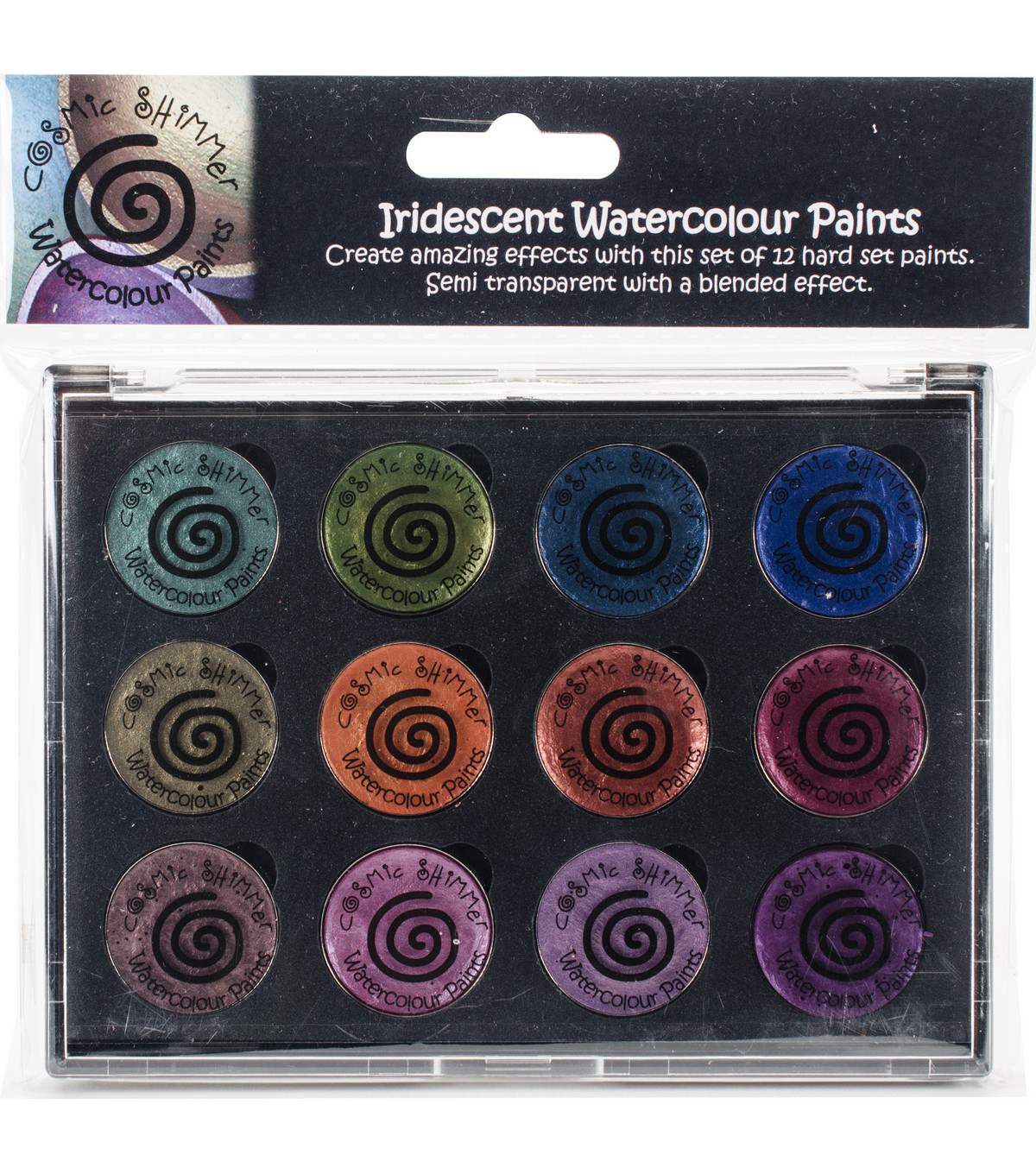 Cosmic Shimmer Watercolour Paint Pallet Set-Iridescent Antique Shades