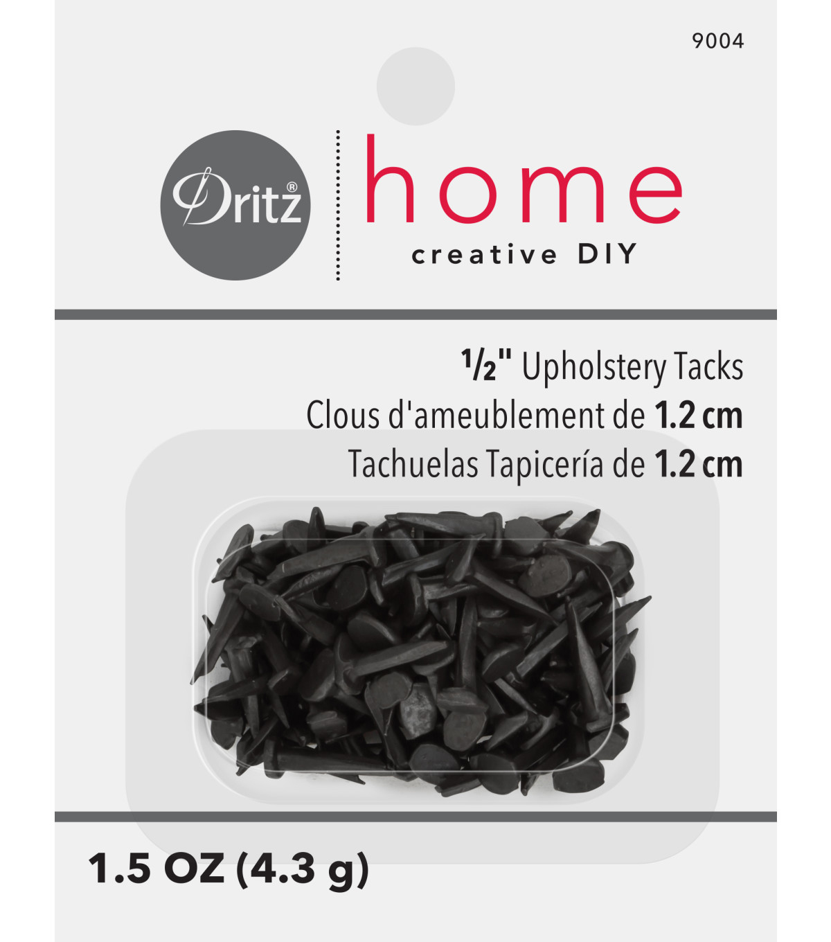 Dritz 0.5\u0022 Number 6 Upholstery Steel Tacks 2oz