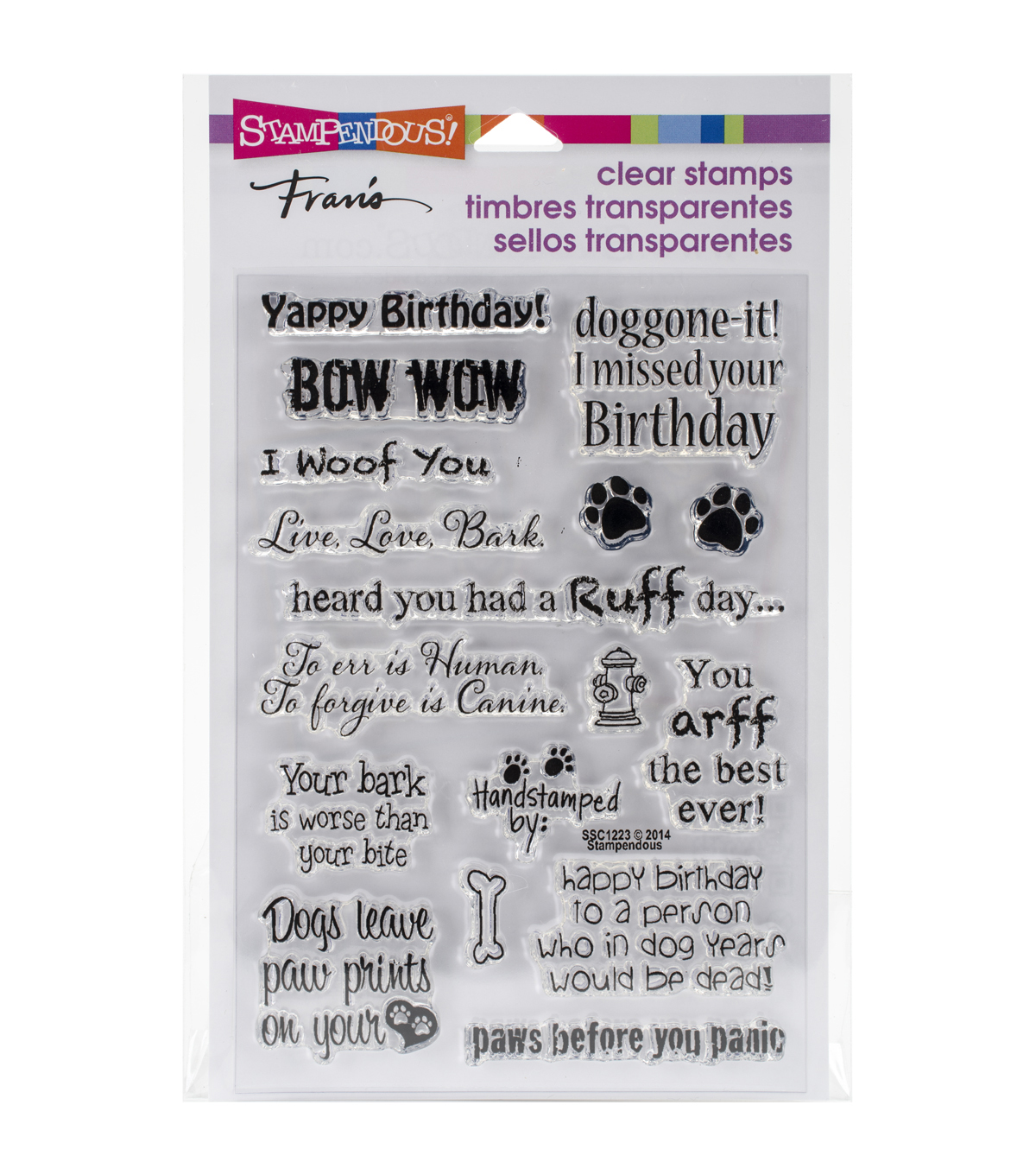 Stampendous Perfectly Clear Stamps 4\u0022X6\u0022-Dog Sayings
