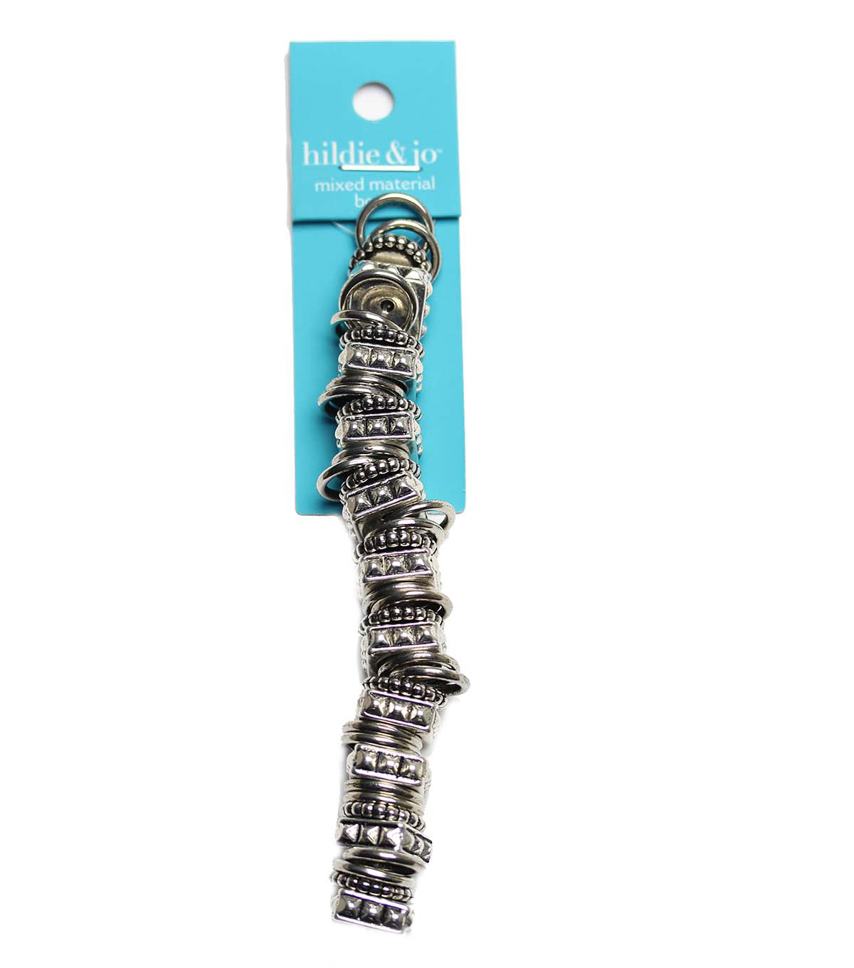 hildie & jo Strung Beads-Silver Plated Loop Mix