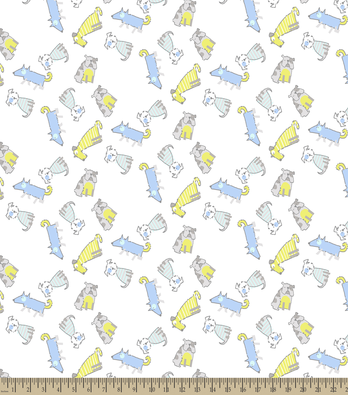 Dog Gone Dogs Print Fabric