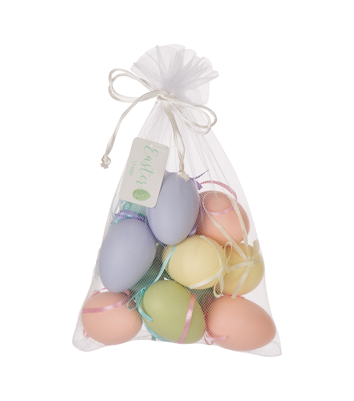 Easter 12 pk Egg Ornaments-Pastel