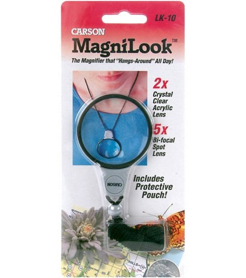 MagniLook Lanyard Magnifier-2X Magnification With 5X Bi-Focal Lens