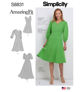 Simplicity Pattern S8831 Misses\u0027 & Women\u0027s Dress-Size AA (10-18)