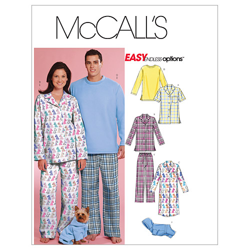 McCall\u0027s Patterns M5992 Adult & Pet Sleepwear-Size L-XL