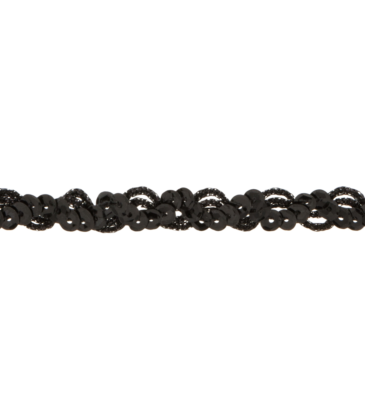 Simplicity Trims-3/8\u0022 Sequin Cupped Scroll Black
