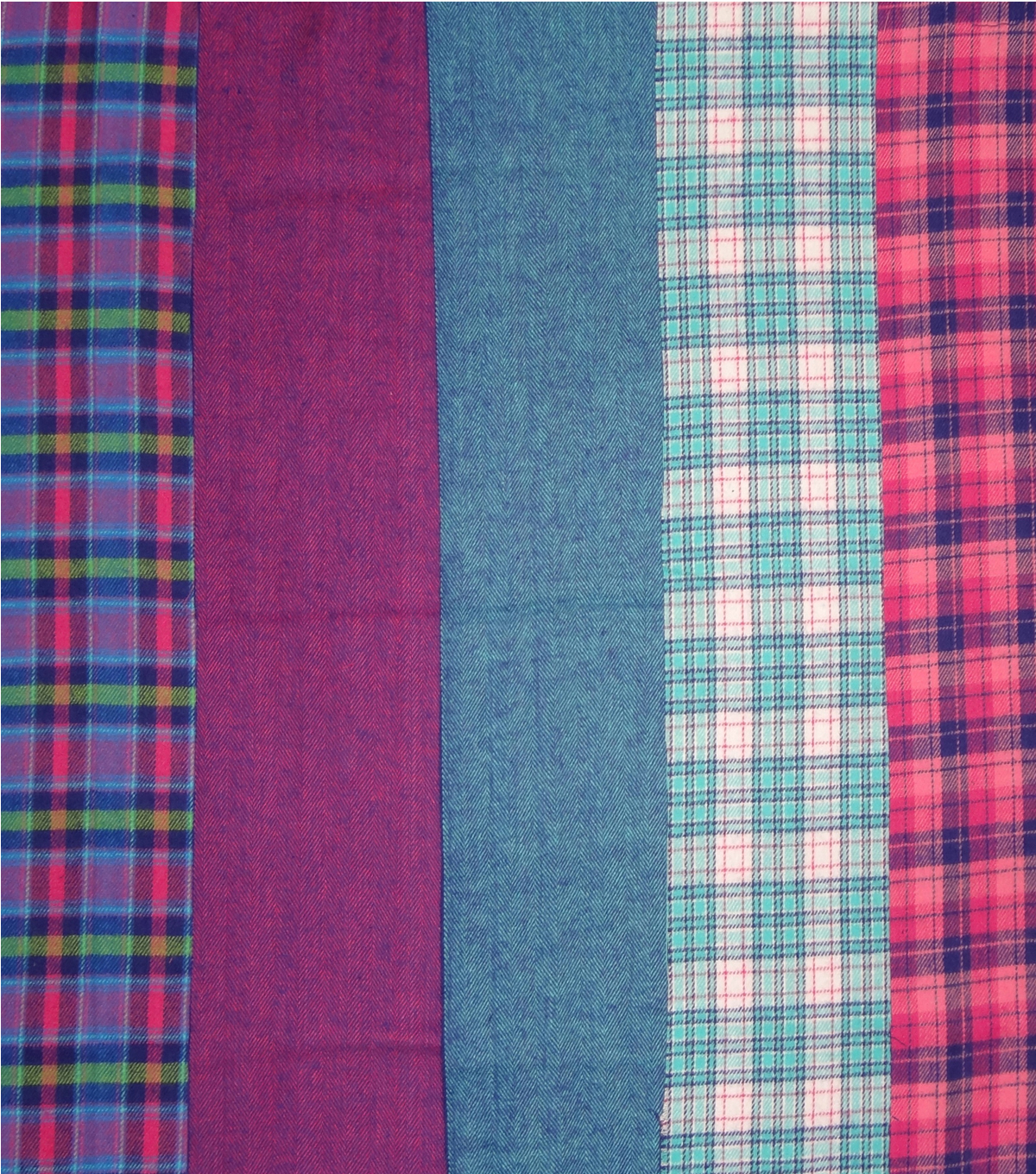 Fat Quarter Bundle Cotton Fabric 18\u0027\u0027-Pink Plaid