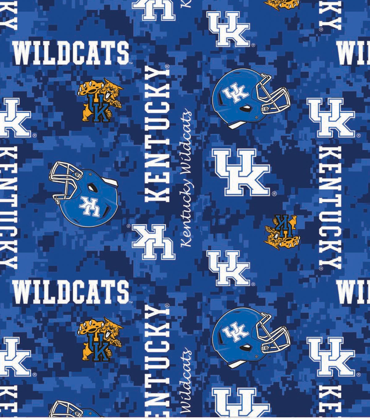 University of Kentucky Wildcats Fleece Fabric -Digital Camo