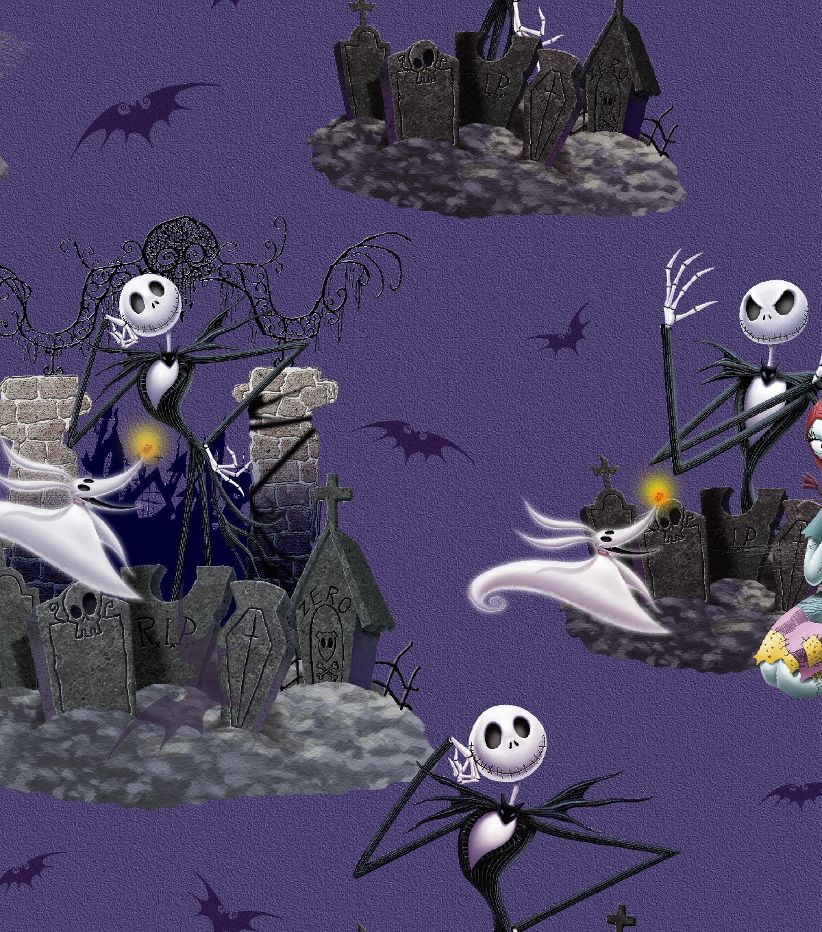 Nightmare Before Christmas Halloween Cotton Fabric -Scenic | JOANN