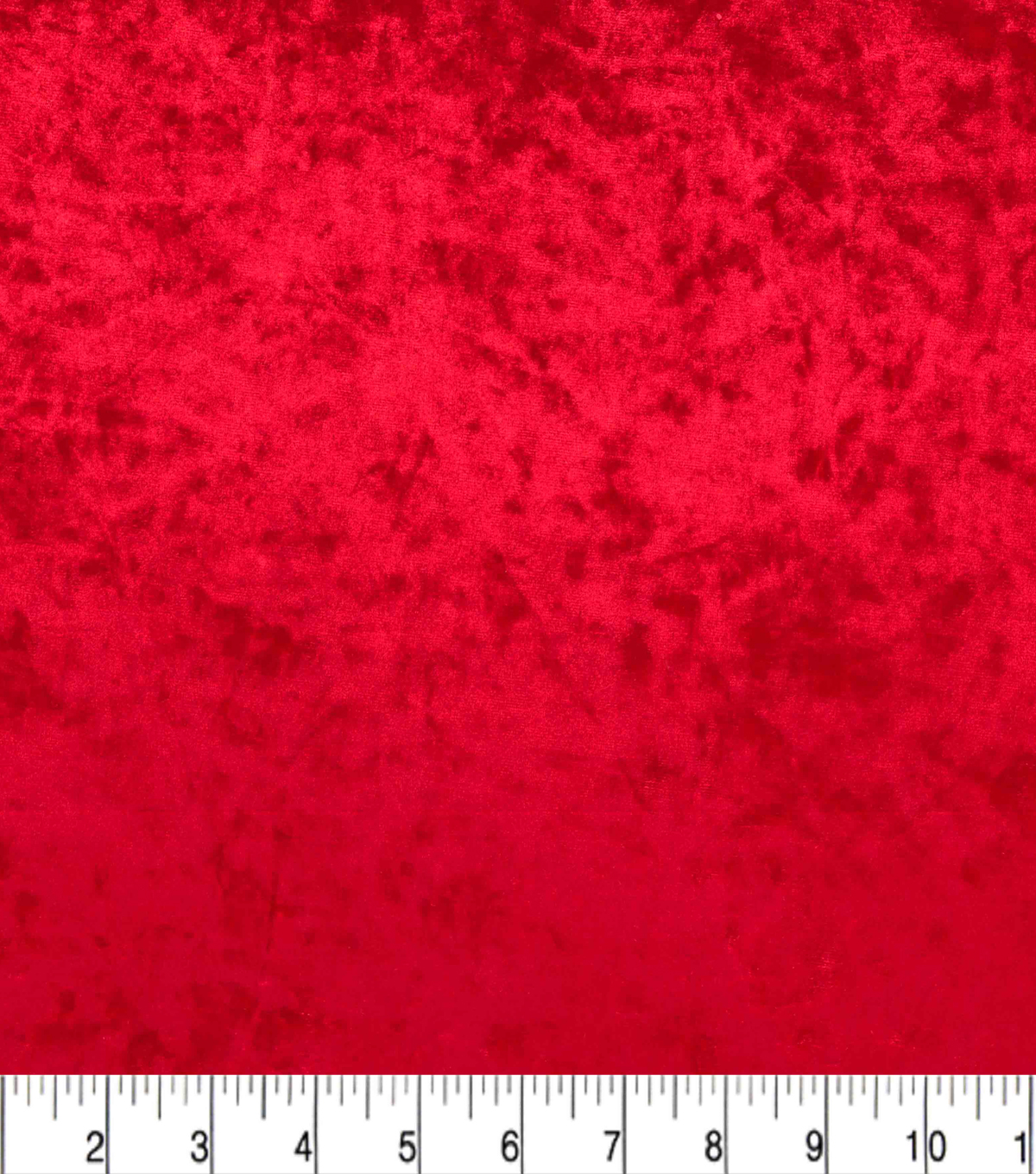 Stretch Panne Velour Fabric-Red