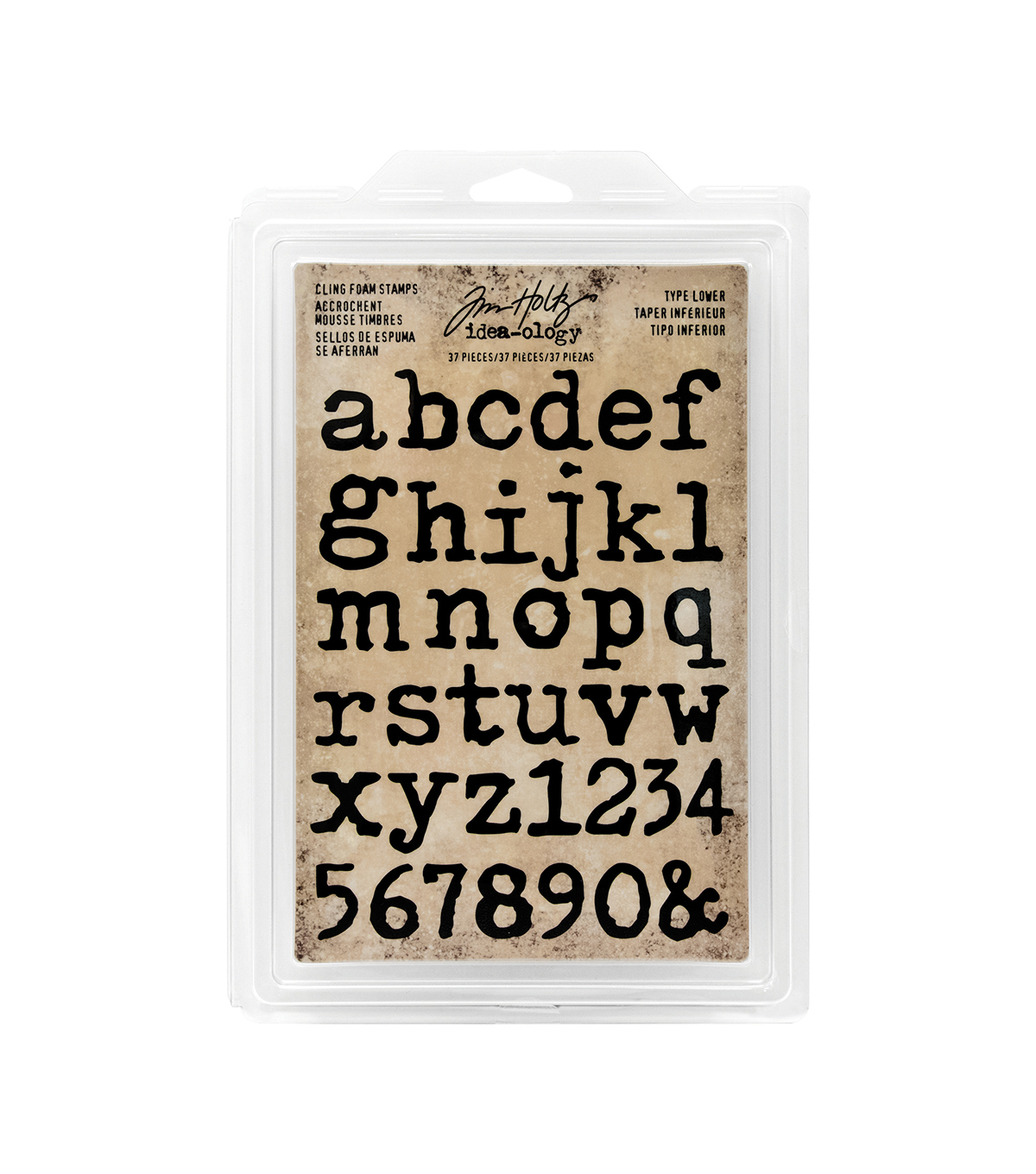 Tim Holtz Idea-ology Pack of 37 Type Lower Cling Foam Stamps
