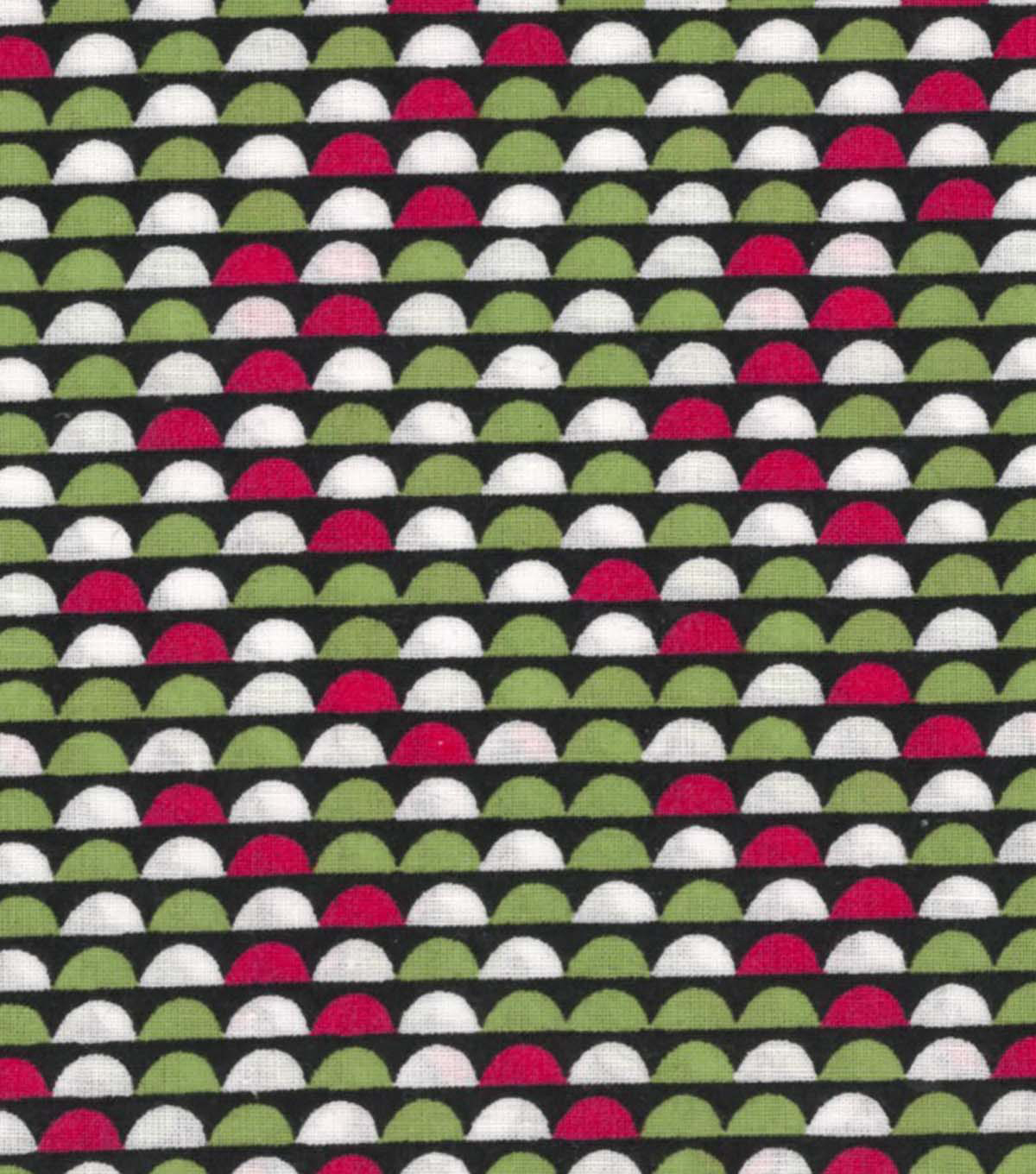 Quilter\u0027s Showcase Cotton Fabric -Raspberry & Green Half Circle