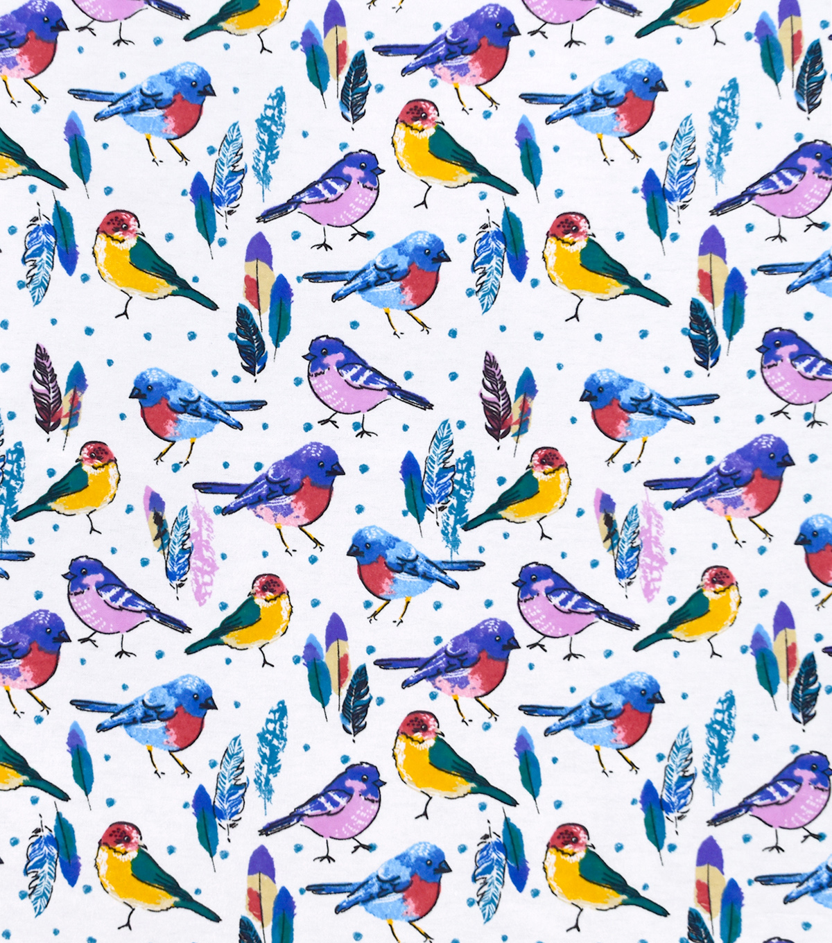 Snuggle Flannel Fabric-Birds And Feathers