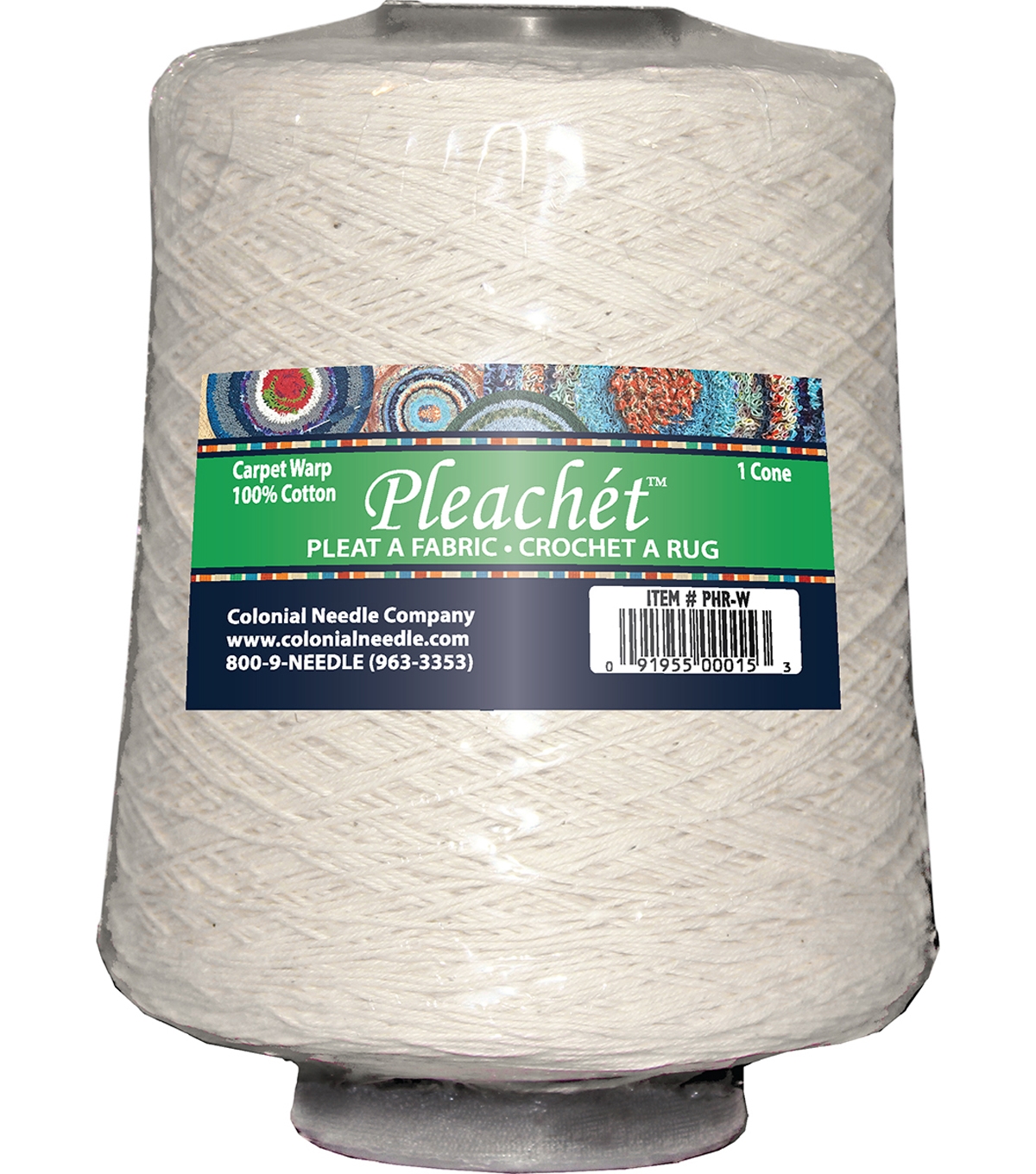 Pleachet Carpet Warp-1lb Cone