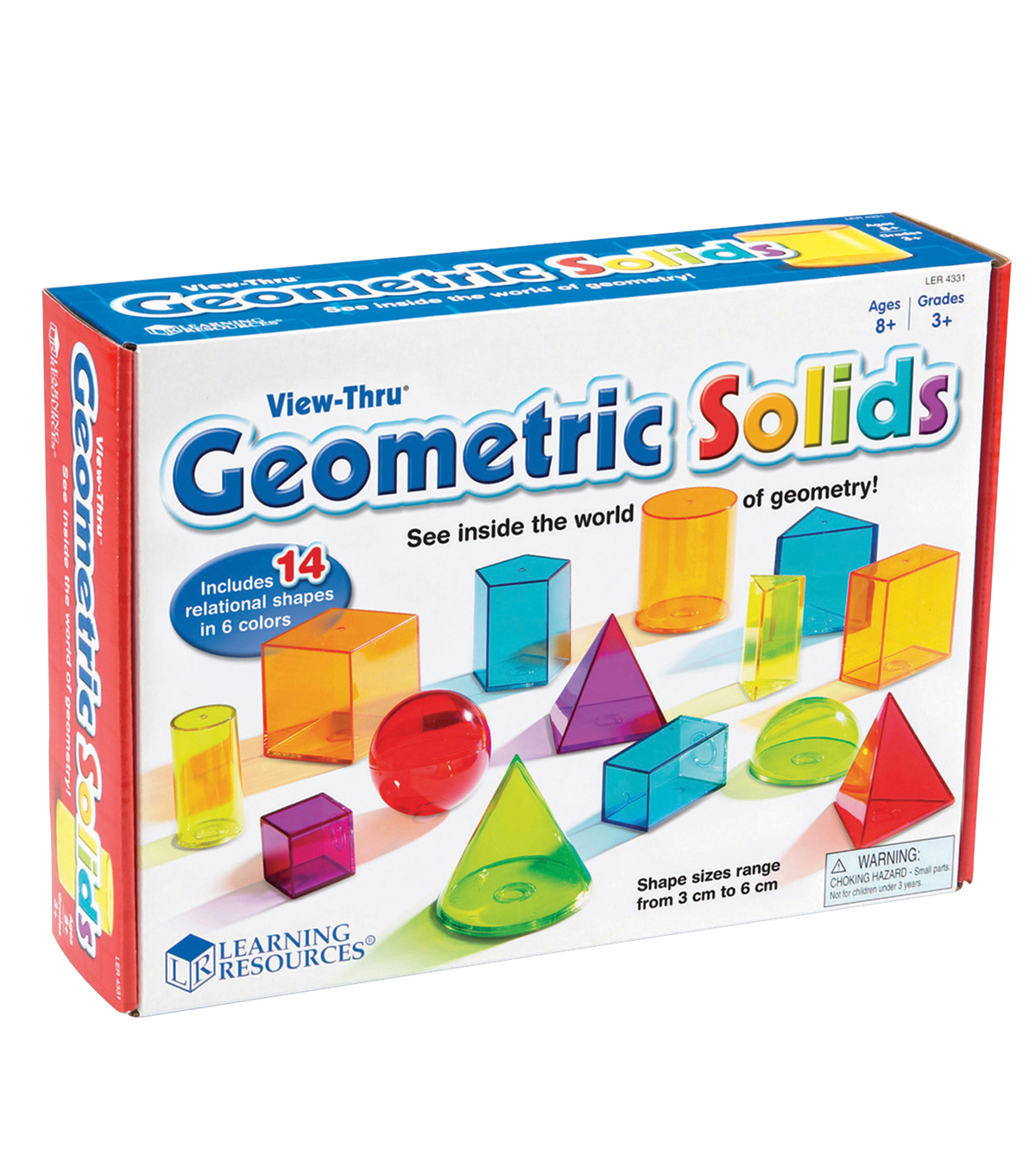 Learning Resources View-Thru Geometric Solids, 14pcs