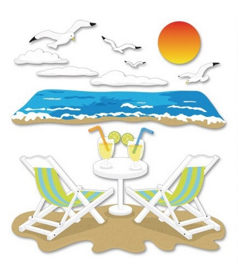 Jolee\u0027s Boutique Themed Ornate Stickers-Beach Leisure