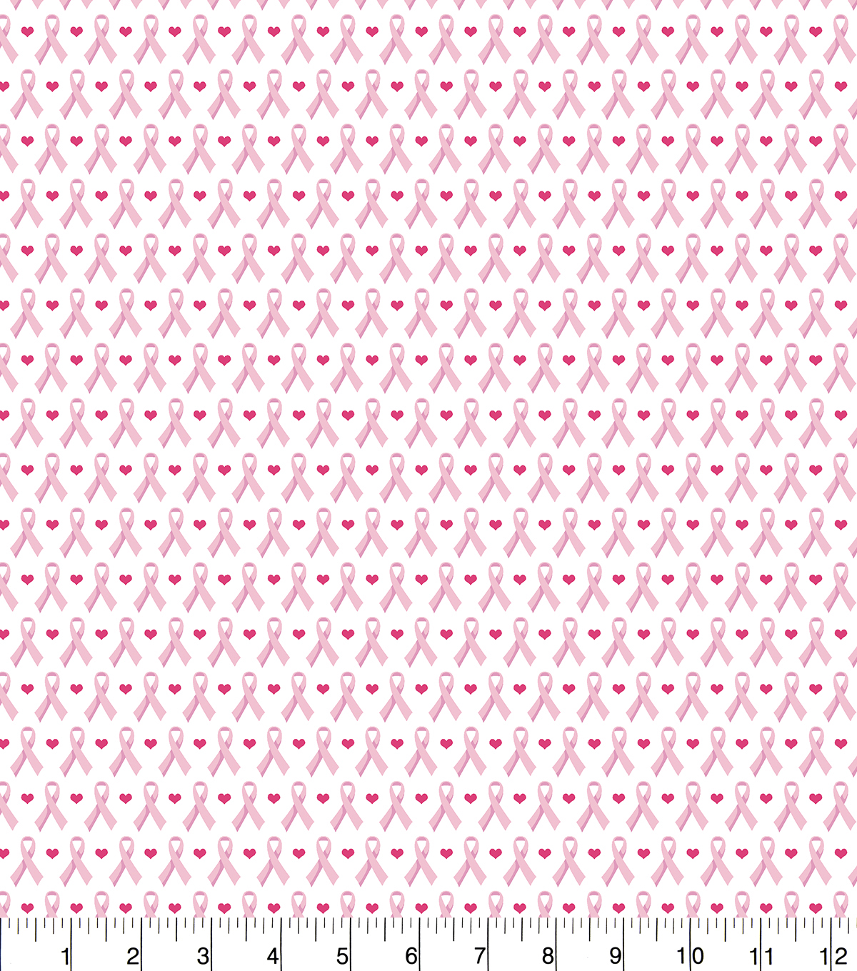Snuggle Flannel Fabric -Hearts And Ribbons Pink