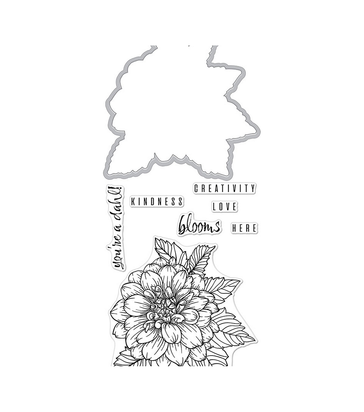 Hero Arts Florals Stamp & Cut-Dahlia