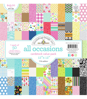 Doodlebug Value Kit Cardstock 12\u0022X12\u0022-All Occasions