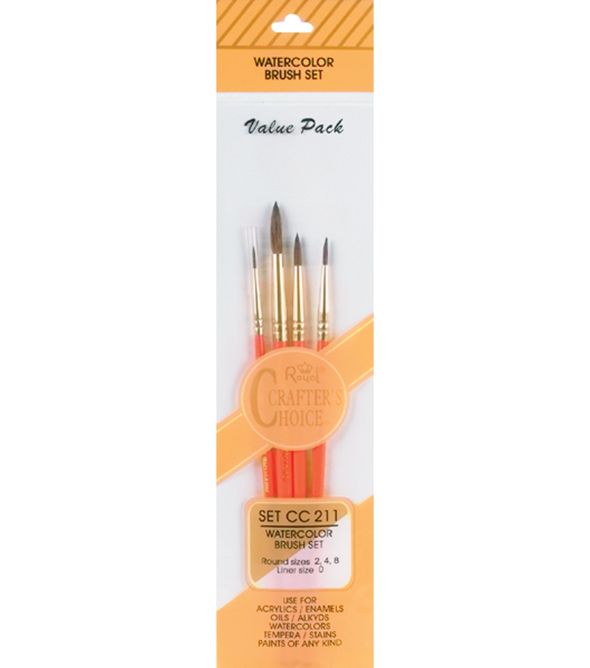 Crafter\u0027s Choice Watercolor Brush Set-4 Pack